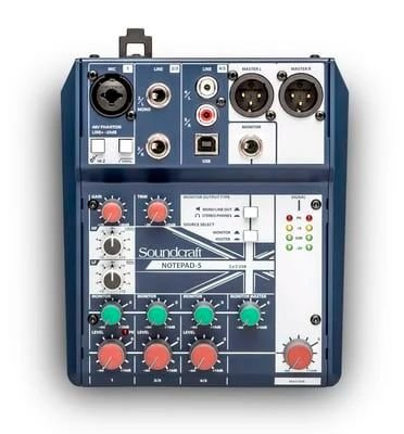 SOUNDCRAFT NOTEPAD 5 MIXER ANALOGICO USB