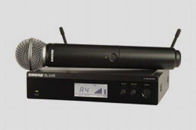 SHURE KIT RADIOMICROFONO BLX24R E SM58