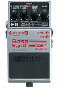 BOSS SYB-5 BASS SYNTHESIZER  PEDALE EFFETTO