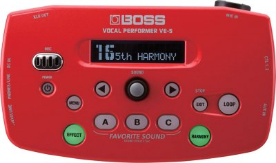 BOSS VE5 RED VOCAL PERFORMER