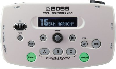 BOSS VE5 WHITE VOCAL PERFORMER