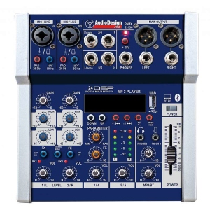 Audiodesign Pamx1211SC Mixer Professionale Usb Bt Pc 16 Effetti