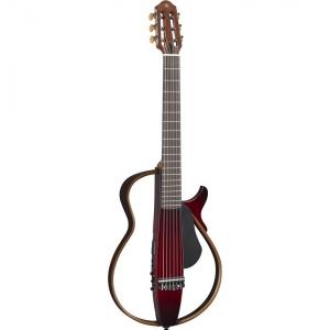 Yamaha Slg200N Crb Silent Guitar Nylon Crimson Red Burst