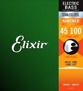 ELIXIR 14652 NANOWEB STAINLESS STEEL MUTA 45-100 PER BASSO ELETTRICO