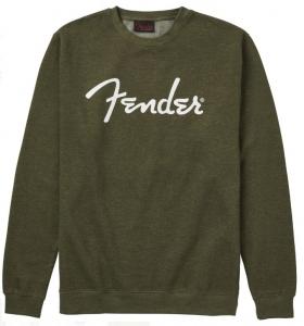 Fender Spaghetti Logo Pullover Army Green Large