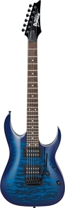 Ibanez Grga120Qatbb Chitarra Elettrica Blu Trasparente