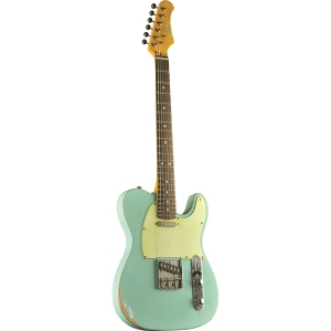 Eko Guitars VT-380 Relic Daphne Blue