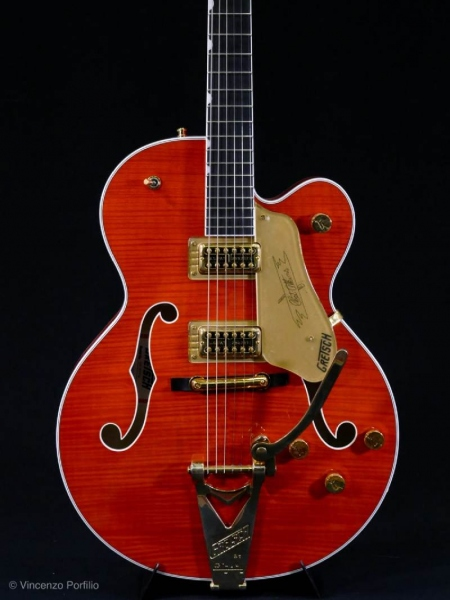GRETSCH G6120TFM PLAYERS EDITION NASHVILLE ORANGE STAIN 0