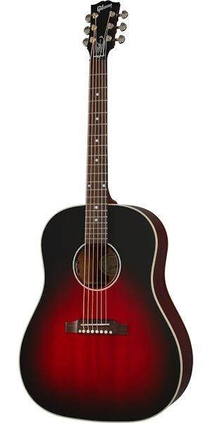 Gibson Slash J45 Acoustic Electric Vermillion Burst