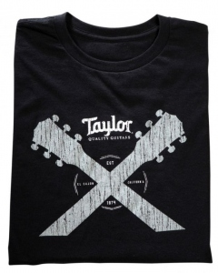 TAYLOR WARE DOUBLE NECK T- SHIRT BLACK XL