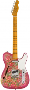 FENDER LIMITED DOUBLE ESQUIRE THINLINE CUSTOM RELIC AGED PINK PAISLEY