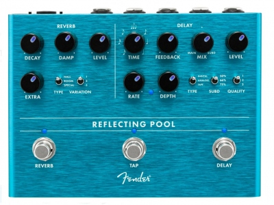 FENDER REFLECTING POOL DELAY E REVERB PEDALE EFFETTO