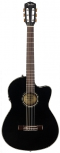 Fender Cn-140Sce Black Chitarra Classica Elettrificata