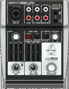 Behringer Xenyx 302 Mixer 5 Canali Con Usb E Interfaccia Audio