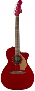 Fender Newporter Player Candy Apple Red Chitarra Acustica Elettrificata