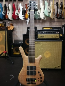 WARWICK CORVETTE $$ 6 CORDE FLAMETOP NATURAL