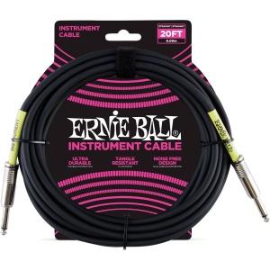 Ernie Ball 6046 Cavo Jack Nero 6Mt
