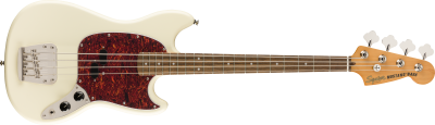 SQUIER CLASSIC VIBE 60 MUSTANG OLYMPIC WHITE BASSO ELETTRICO SHORT SCALE