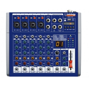 Audiodesign Pamx1411SC Mixer Professionale Usb Bt Pc 16 Effetti