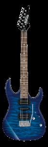 Ibanez Grx70Qatbb Chitarra Elettrica Transparent Blue Burst