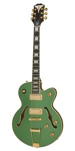 Epiphone Uptown Kat Es Emerald Green Metallic Chitarra Semiacustica
