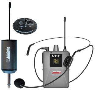 Audiodesign Pmu501Hs Microfono Wireless Con Archetto E Body Pack