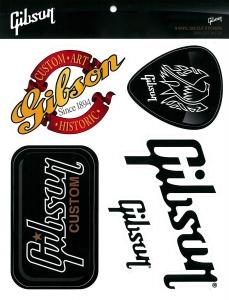 GIBSON LOGO GUITAR STICKER PACK