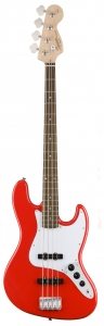 SQUIER AFFINITY JAZZ BASS LAUREL RACE RED