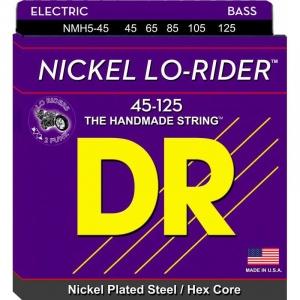 DR STRINGS CORDE 45 -125 LO RIDER NICKEL PER BASSO ELETTRICO