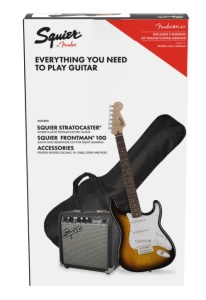 Squier Stratocaster Pack 10G Brown Sunburst