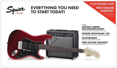 Squier Affinity Stratocaster Pack Candy Apple Red