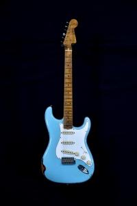 Fender 2019 Custom Shop Tomatillo Stratocaster Relic Aged Daphne Blu