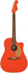 Fender Redondo Player Ltd Chitarra Acustica Elettrificata Fiesta Red